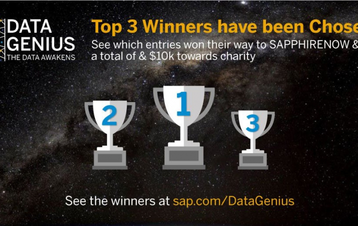 1st Prize in the SAP DataGenius Challenge for BIPM Master Students